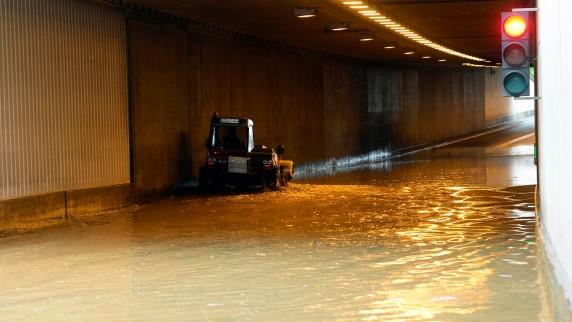 Starkregen setzt Teile Günzburgs unter Wasser